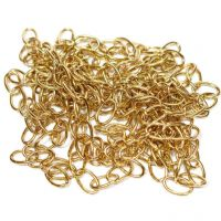 "Oval Brass Chain 13mm (1/2"") - ONE LENGTH 0.9m"